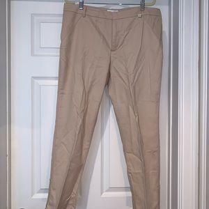 Calvin Klein Khaki Ankle Cut Pants Women's Size 12